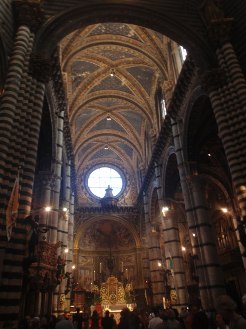 Church interior in Siena