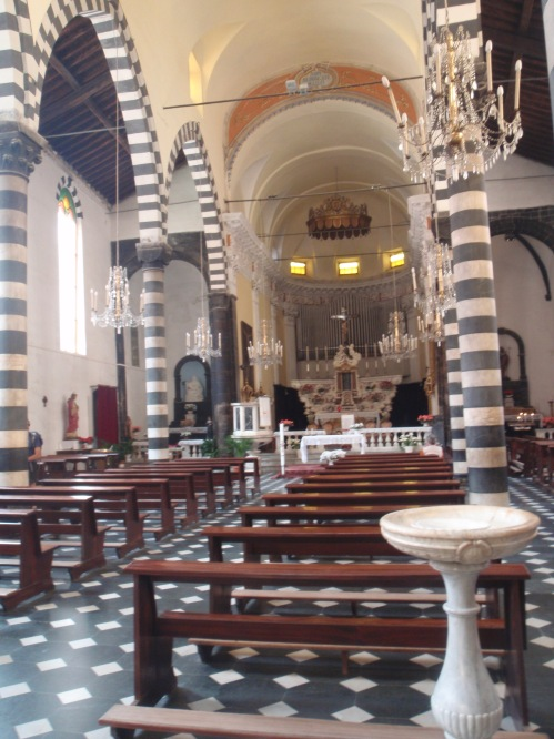Church interior in Naples