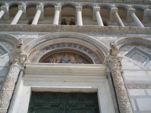 The middle bronze door of the Cathedral of Pisa