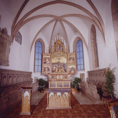 Church interior woodcarvings