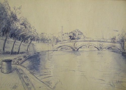 Sketch of the day: a glimpse of Prague