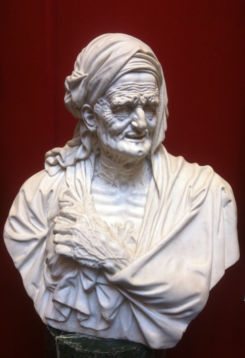 Bust of a Grotesque Old Woman by Antonio Montauti