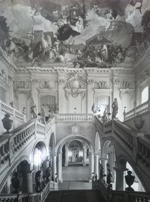 Tiepolo baroque style painting inside the Wuerzburg Residence