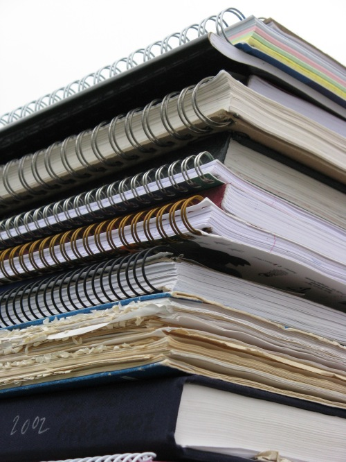 My notebooks: 20-plus years of texts writing in the present